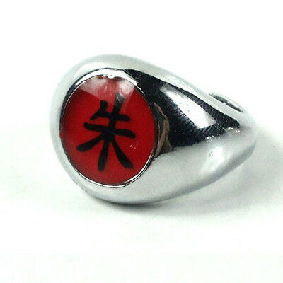 1.9cm Cool Naruto Akatsuki Uchiha Itachi Zhu Ring Metal Alloy Cosplay Gifts