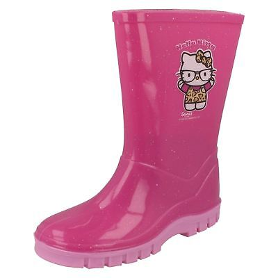 Girls pink wellingtons hello kitty by Spot On Retail price £5.99