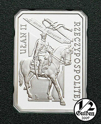 POLAND 10 Zlotych 2011 Polish Cavalry Uhlan Silver Proof Coin NUMISHOP