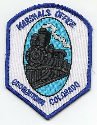 GEORGETOWN COLORADO CO train MARSHAL POLICE PATCH