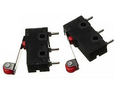 2Pcs KW12-3 KW12 Micro Roller Lever Arm Normally Open Close Limit Switch yk