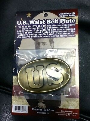 U.s. Civil War Waist Belt Buckle Replica New
