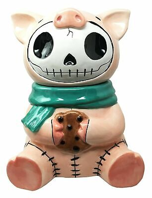 Furrybones Bacon Porky Pig Ceramic Cookie Jar Collectible Kitchen Dining Statue