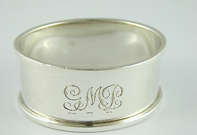 Antique 1926 Solid Sterling Silver GMP Napkin Ring by Rolason Brothers LAYBY AVA