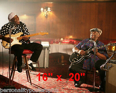 """BB King~Buddy Guy~Blues~Jam Session~Color~Photo~ Poster 16"""" x  20"""""""