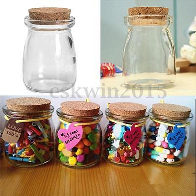 Mini Glass Candy Jam Wish Storage Jars Bottle Vial Container With Cork Stopper