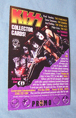 1997 KISS Trading Collector Card Space Ace Frehley PROMO ONLY NOT FOR SALE