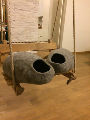Cat Cave, House, Bed, handmade felted  from 100% Natural sheep wool
