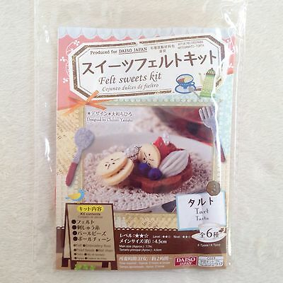 DAISO Japan Felt Sweets Kit Tart • Fast Airmail