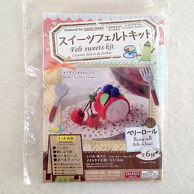 DAISO Japan Felt Sweets Kit Berry Roll • Fast Airmail