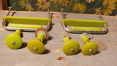 6 art deco TESTED bakelite metal Pull handles knobs 166 grams-0,365 lb (s12229)