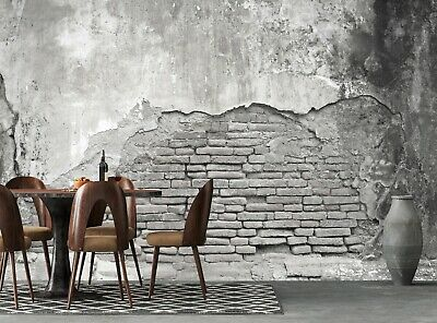 Old White Wall Wall Mural Photo Wallpaper GIANT DECOR Paper Poster Free Paste