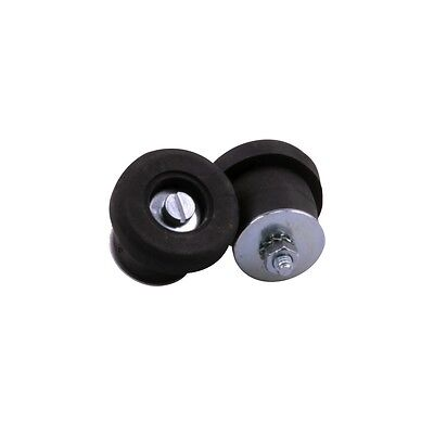 Velox PAIR of Rubber Screw In Bicycle Handlebar End Plugs - Black