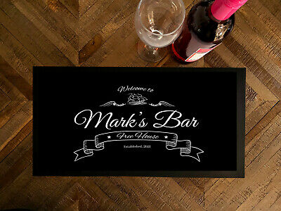 Personalised with your name Welcome Boat Bar runner Pubs & Clubs