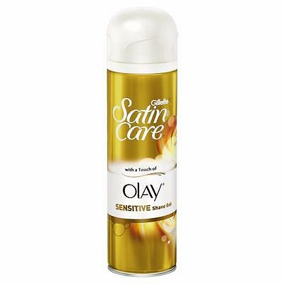 ** WOMANS GILLETTE SATIN CARE SENSITIVE SHAVE GEL NEW ** 200ml  OLAY