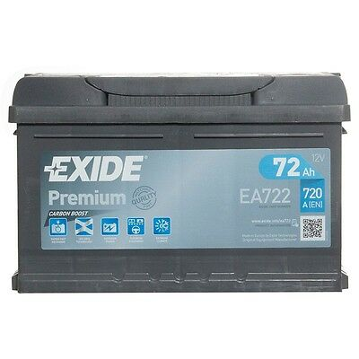 Type 100 Car Battery 720CCA Exide 12V 72Ah 4 Years Wty Sealed OEM Replacement
