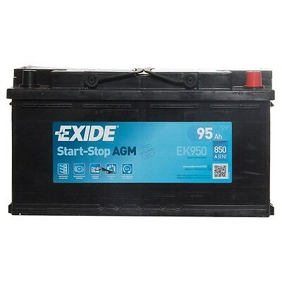 Type 019 Car Battery 850CCA Exide AGM Gel 12V 95Ah 3 Years Wty OEM Replacement