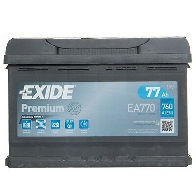 Type 096 Car Battery 760CCA 77Ah Exide Premium 4 Years Warranty OEM Replacement