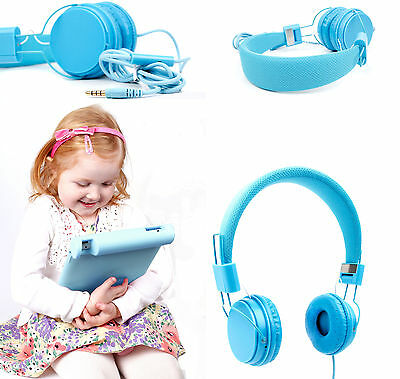 Premium Kids / Child Headphones & Shell Case for Apple iPad 3 & 4 in Blue