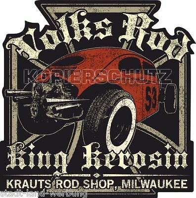 572//2 King Kerosin Thirty TWO 2XL 30cm Aufkleber Sticker Oldschool Hotrod Retro
