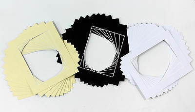Photo/Picture Mounts / Frame Mounts / Various Size / Colours PACK OF 10 - A4 A3
