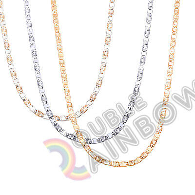 """C09 16-36""""men stainless steel Gold Silver 4mm Anchor Mariner Necklace Chain link"""