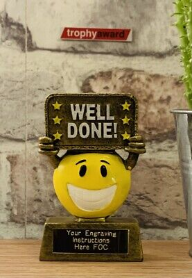 Well Done Star Trophy With FREE Engraving & FREE P+P