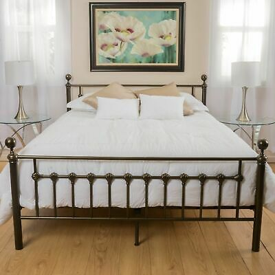 QUEEN SIZE FENTON Bed with Frame Black Walnut Finish 4 Poster ...