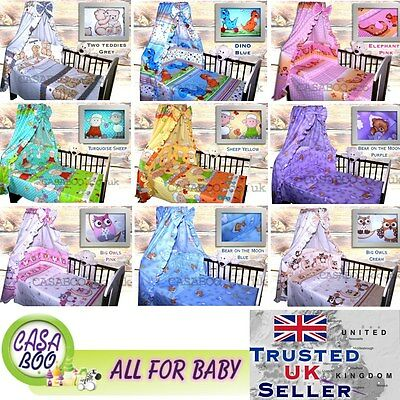 2-7  PIECES BABY NURSERY BEDDING SET,DUVET/QUILT PILLOW cover/CANOPY, SHEET, NEW
