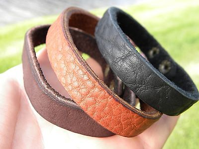 Bracelet Customize Genuine Buffalo Bison leather cuff Men boy cowboy wristband