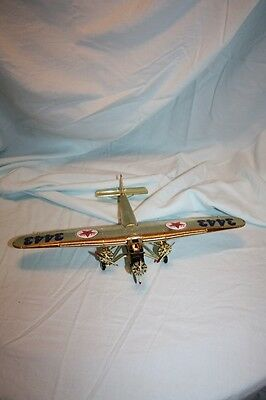 Texaco Airplane Bank 1927 Ford Tri Motored Monoplane Collectible Die Cast Metal