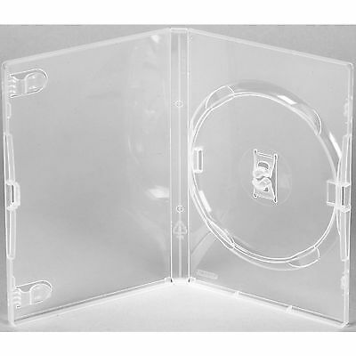 50 X Genuine Clear Amaray Single DVD Cases Made in UK NEW