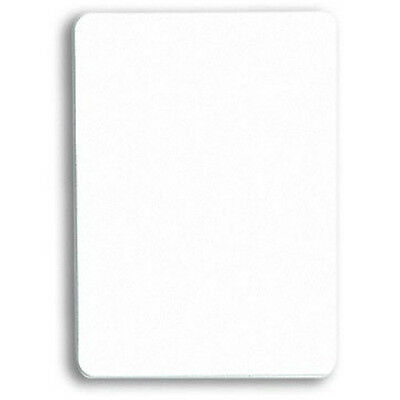 CUT CARD - 100% plastic, Bridge Size, White