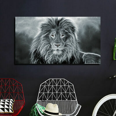 Lion Strectched Canvas Prints Framed Wall Art Home Office Decor Painting Gift