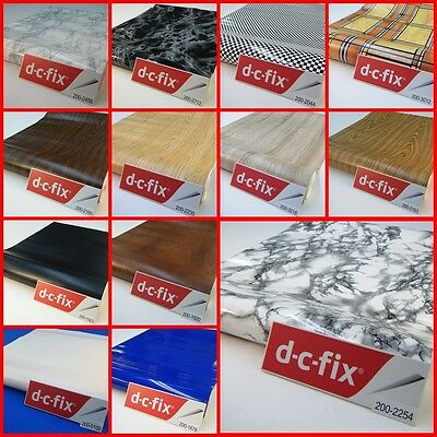 DC FIX SELF ADHESIVE STICKY BACK FILM STICKER VINYL MARBLE WOOD LEATHER 45CMx1M