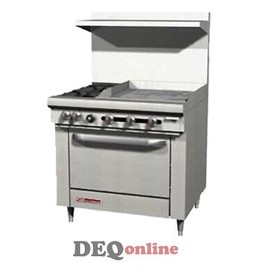 """Southbend S36D-2G 36"""" Gas Range W/ Standard Oven 2 Open Burners W/ 24"""" Griddle"""