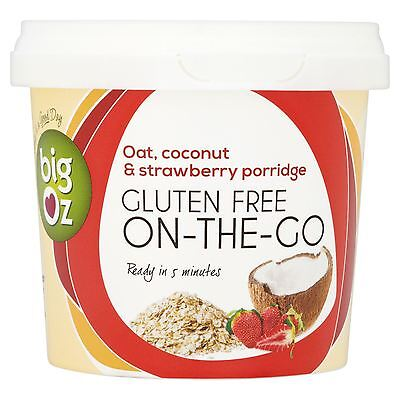 Big Oz Gluten Free On-The-Go Oat, Coconut & Strawberry Porridge 50g