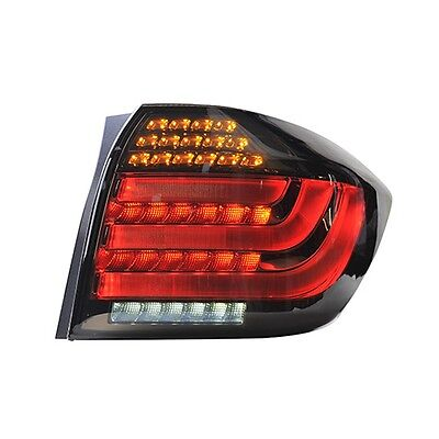 Smoke BMW Style LED Tail Lights Rear Lamps For Toyota Highlander 2012~2013