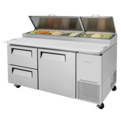 Turbo Air TPR-67SD-D2 Pizza Prep Table w/ Two Drawers Stainless