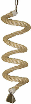 Parrot Perch Pet Bird Perch Natural Perch Bungie Sisal Rope Twister with Bell
