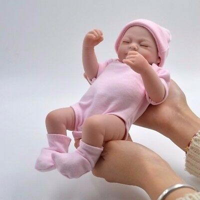 Handmade Real Looking Newborn Baby Vinyl Silicone Realistic Reborn Doll Girl