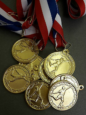 Football medals x 10 Metal medal with Ribbon.Football party bag Man of the match