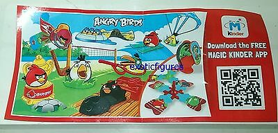 Angry Birds compl. set with all 10 Bpz, Kinder Joy, Merendero 2015