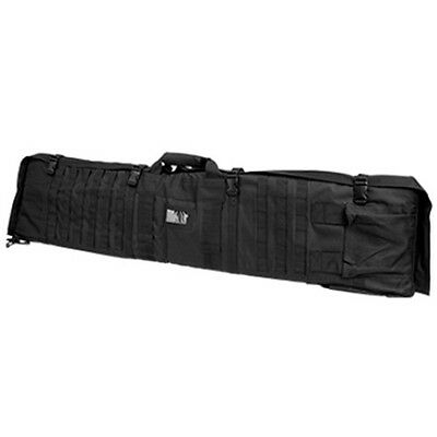 NcSTAR Tactical Rifle Case Range MOLLE Hunting Shooting Range Mat Combo Black