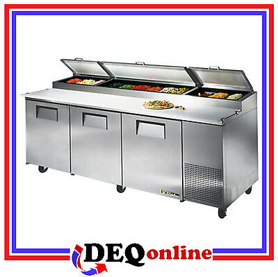 True TPP-93 Commercial Solid Door Pizza Prep Table Cooler