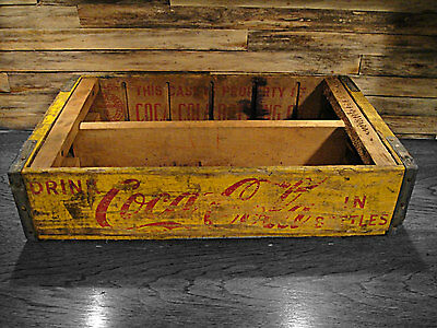 1960's Coca-Cola Crate - Soda Shipping Crate Old Wood Box Advertising Cola