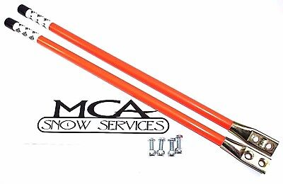 "Western Snow Plow 24"" Orange Guide Markers W Reflective Decal 62595"