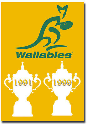 "2 Times Champions Rugby World Cup Wallabies Australian Fridge Magnet 2.5"" x 3.5"""