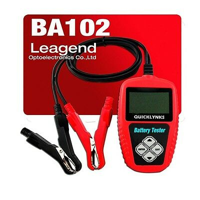 QUICKLYNKS BA102 Motorcycle Battery Tester 12V System High Quality