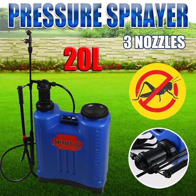 20L Pressure Backpack Water Sprayer Spray Garden Pump Chemical Weed Killer New